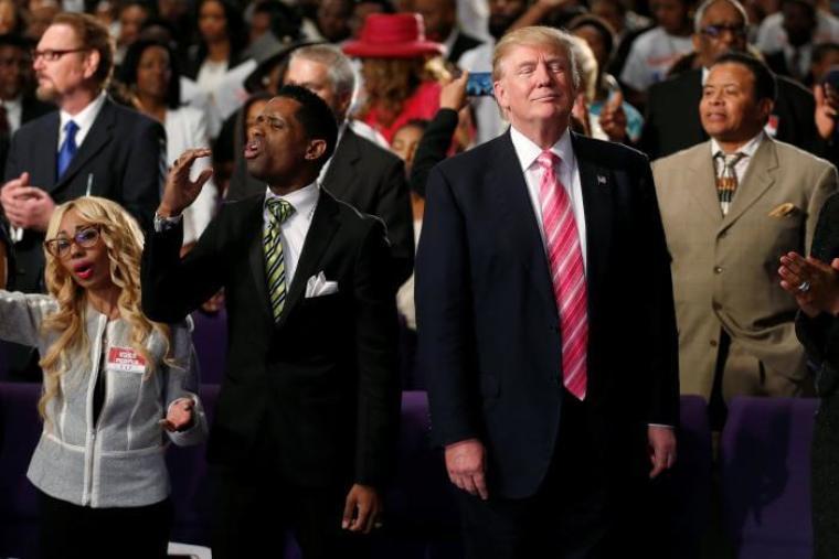 Donald Trump in Detroit Black Church