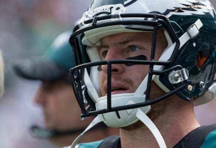 best loved 919bf c9d51 Carson Wentz Raises Over $100K to Train Service Dogs to Help ...