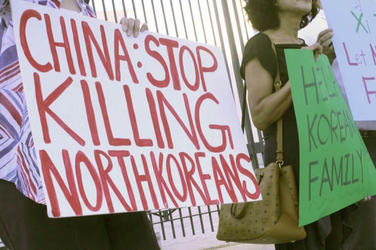 North Korea Freedom Protest