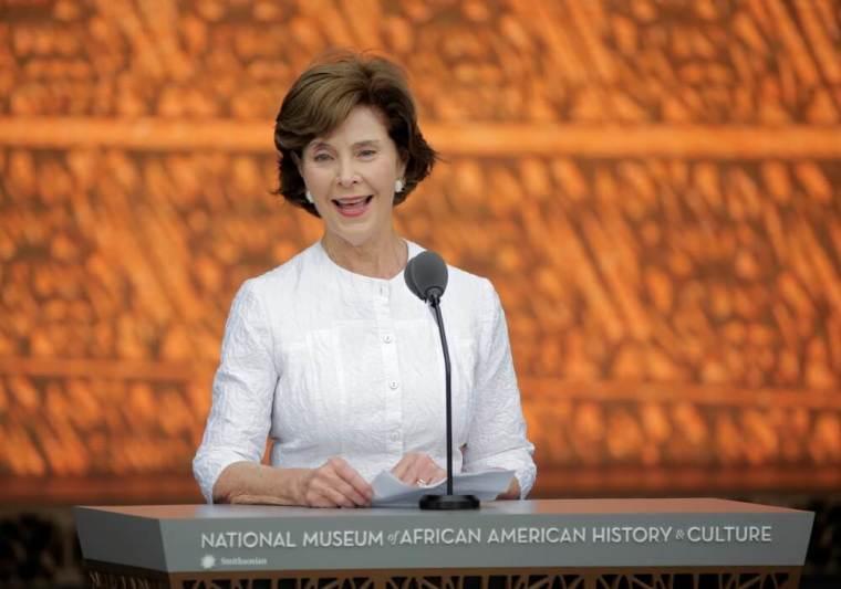 Former U.S. first lady Laura Bush