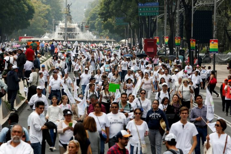 Mexico march against the legalization of gay marriage