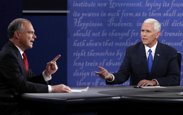 Tim Kaine, Mike Pence