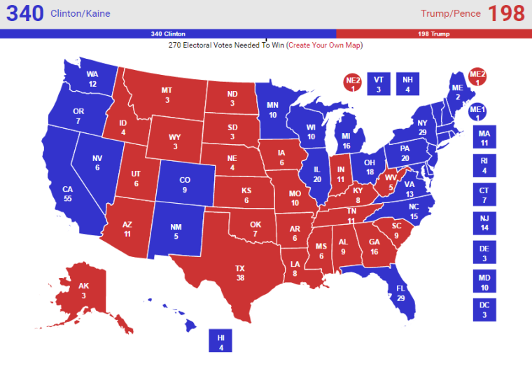 Real Clear Politics Election Map