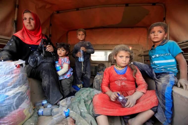 Displaced people, Islamic State, Mosul
