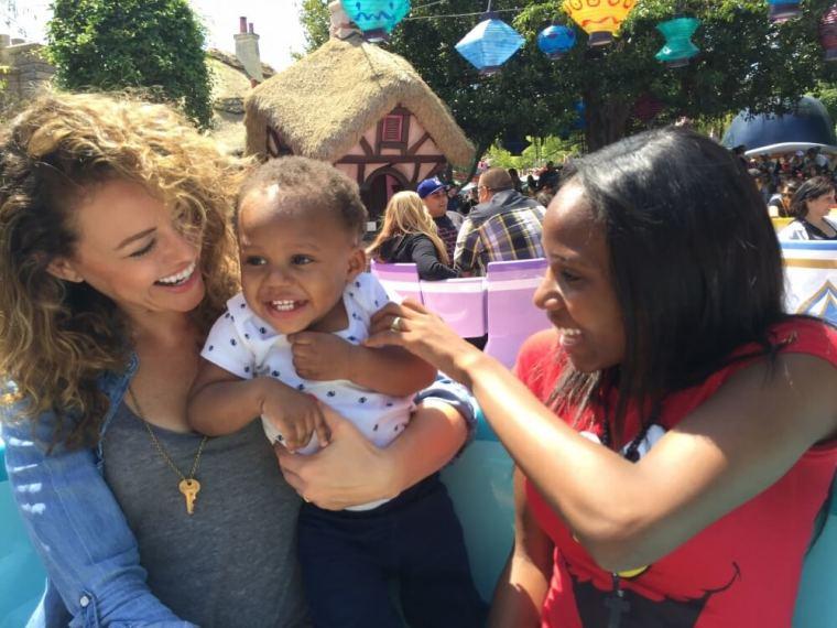 Kim Biddle with children