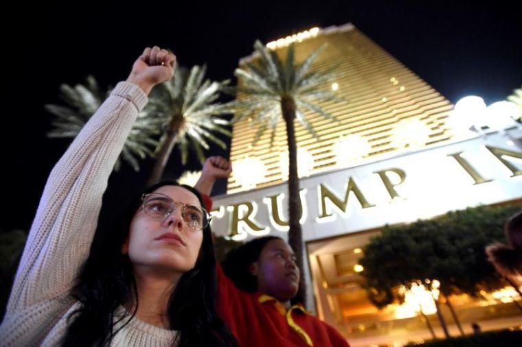 Demonstrators, Donald Trump