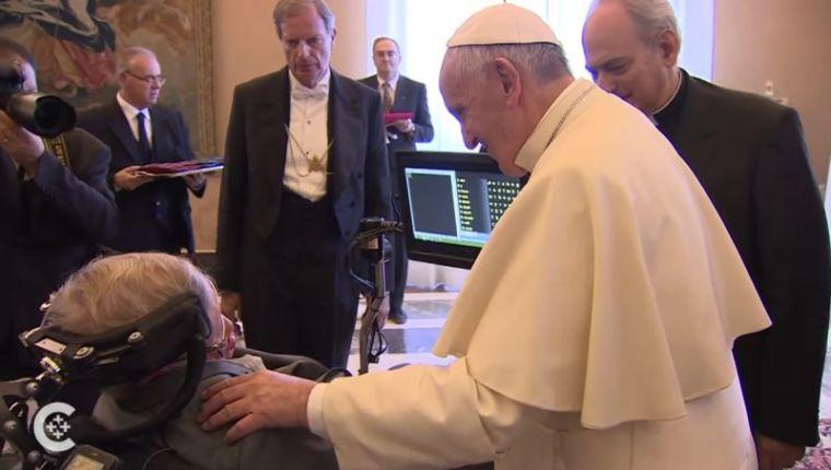 Pope Francis Stephen Hawking