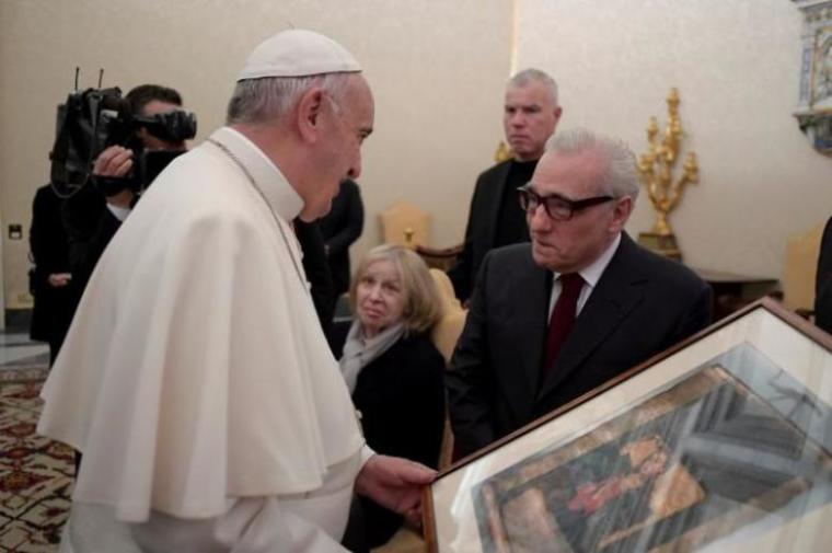 Pope Francis (L) and Martin Scorsese