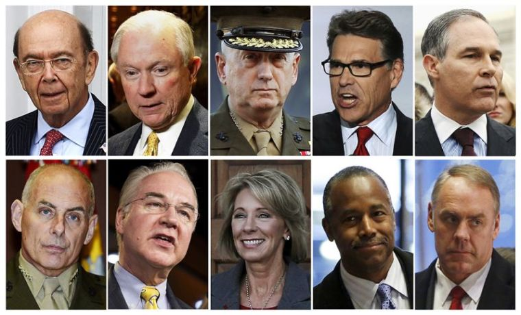 U.S. president elect Donald Trump's appointees