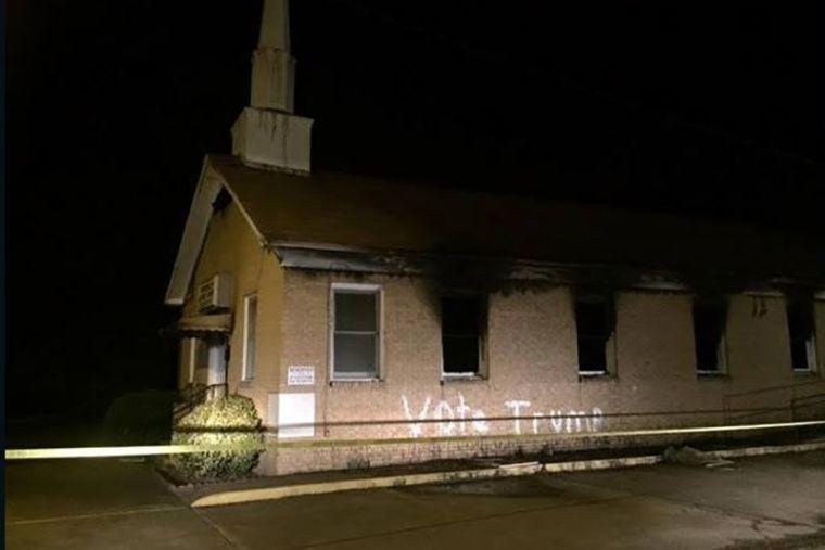 Mississippi church vandalism