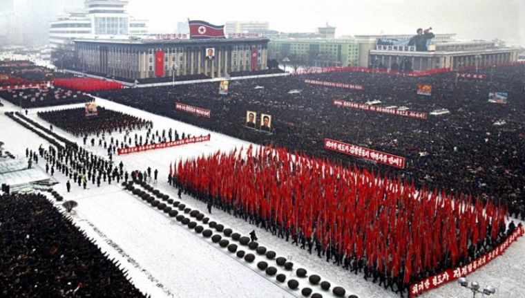 Mass Rally in Pyongyang, North Korea