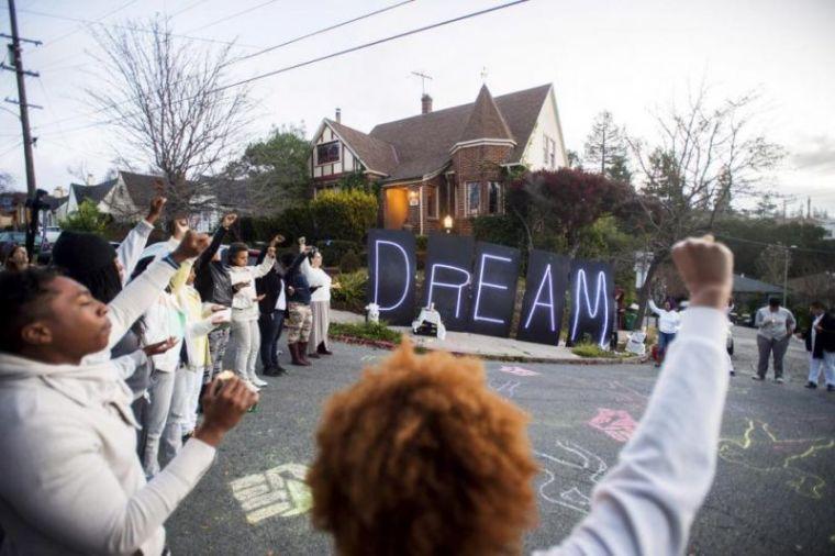 Black Rights Demonstrators in Oakland, Ca.