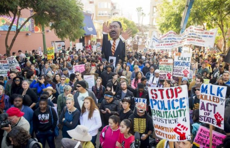 Protests in Oakland, Ca. on MLK Day 2015