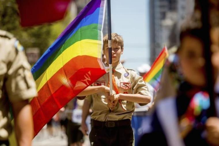 Boy Scout at SF Gay Pride Festival