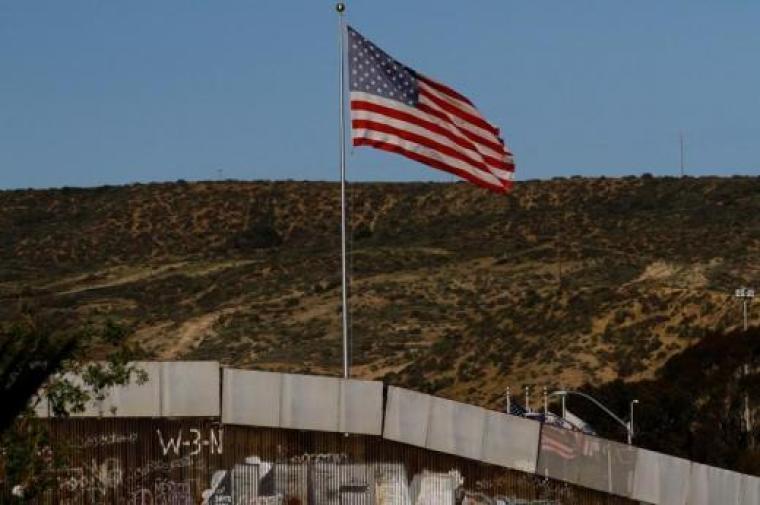 U.S. Flag at Mexico Border