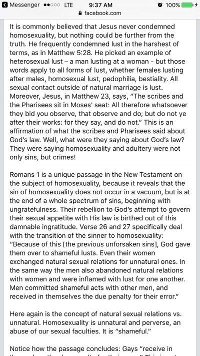 Elizabeth Johnston Facebook Screengrab 2