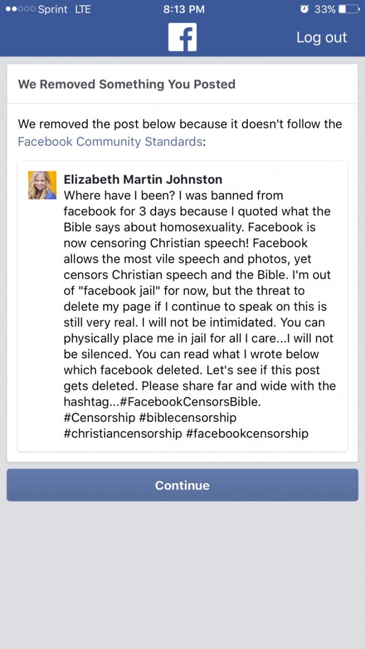 Facebook Suspends Christian Homeschool Mom's Account Over