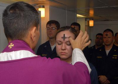 US Navy Ash Wednesday Mass