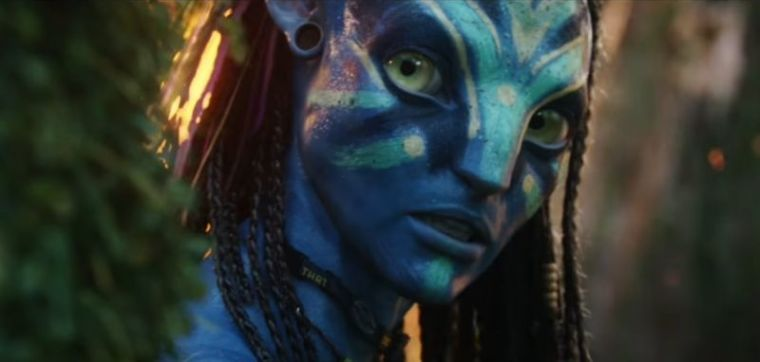 A screenshot from the official trailer of the 2009 movie 'Avatar.'