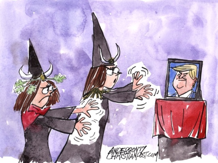 Wound-Up Witches Target Trump!