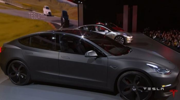 Screenshot Of The Tesla Model 3 During Unveiling Last March 31 2016 You