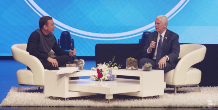 Mike Pence and David Hughes