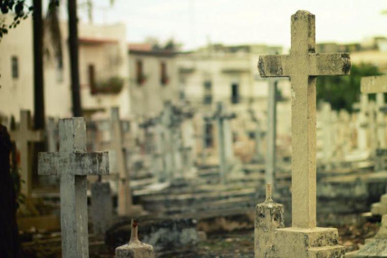 cemetery, grave, cross