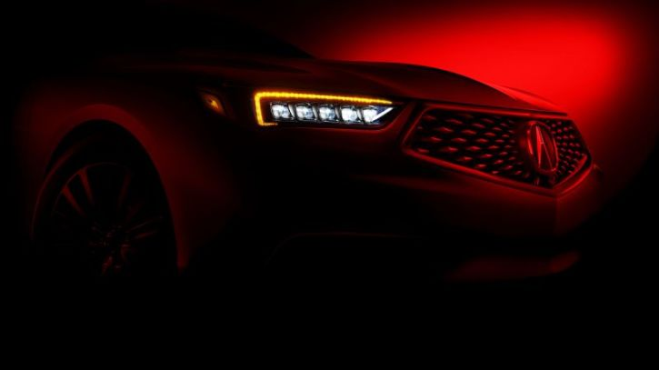 A Teaser Image For The 2018 Acura Tlx Photo