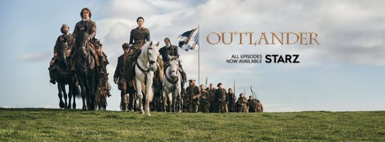 A promotional photo of Starz's TV series 'Outlander.'