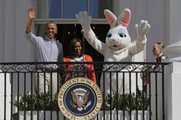 Easter holiday easter bunny easter egg roll