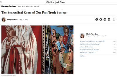 Molly Worthen, New York Times