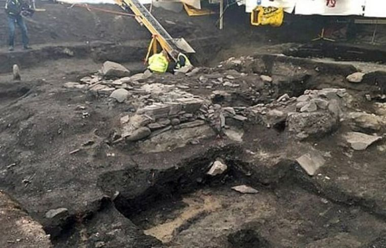 Norway excavation site - Ruins of St. Clement's church