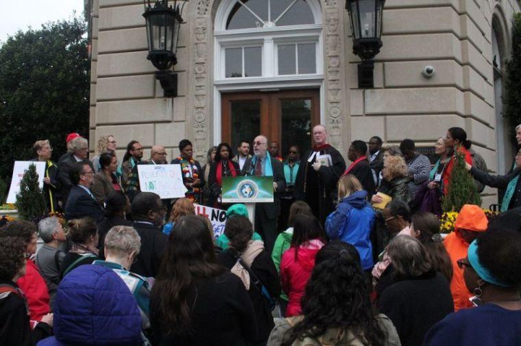 Demonstration at United Methodist Building