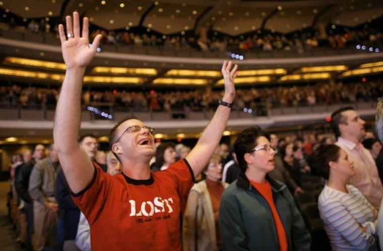 U.S. church Sunday service