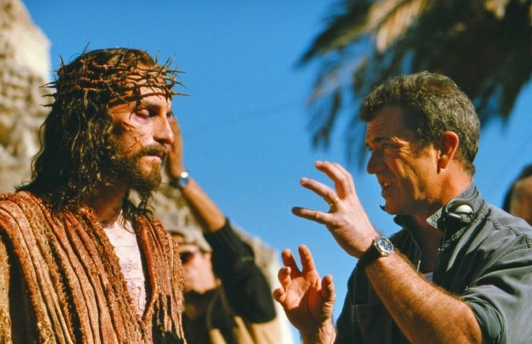 Mel Gibson directs actor Jim Caviezel - 'The Passion of the Christ.'