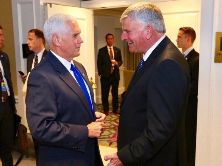 Mike Pence, Franklin Graham