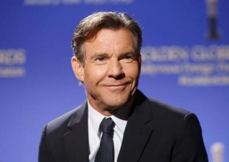 Actor Dennis Quaid sits on stage during the nominations for the 73rd annual Golden Globe Awards in Beverly Hills, California in December 2015.