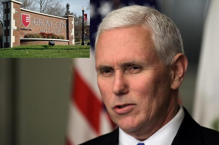 Mike Pence, Grove City College