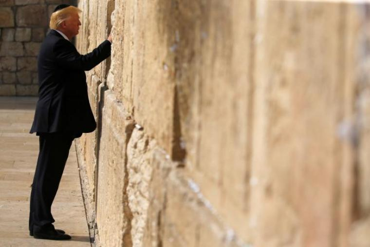 Donald Trump on the Western Wall