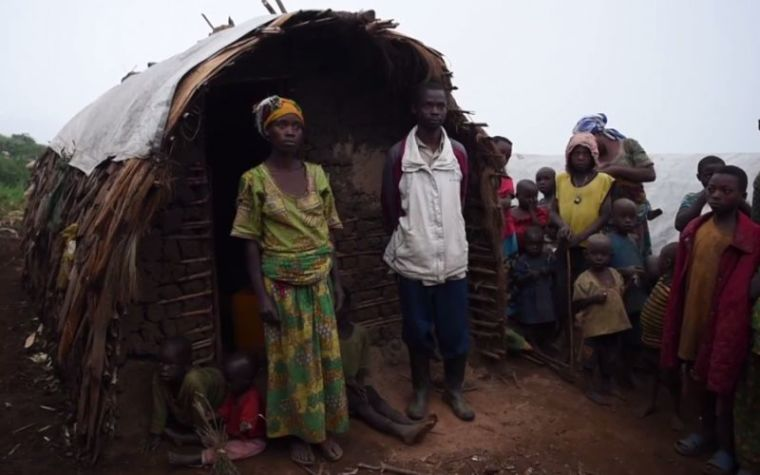 Displaced Congo family