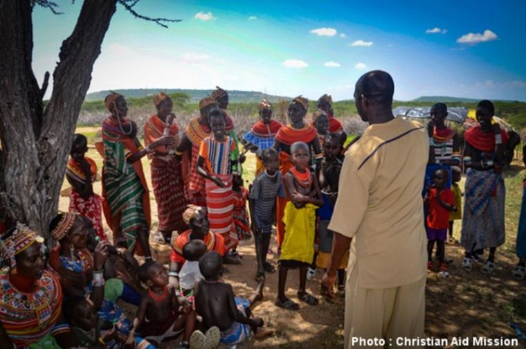 Kenyan villagers suffering from famine