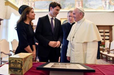 Trudeau and Pope Francis