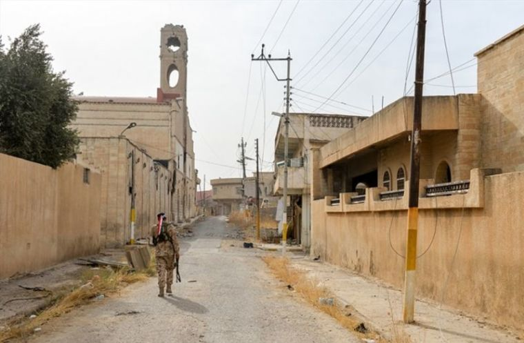 Deserted Christian town Qaraqossh in Iraq