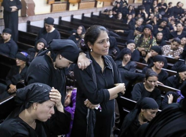 Egyptian Christian mourners