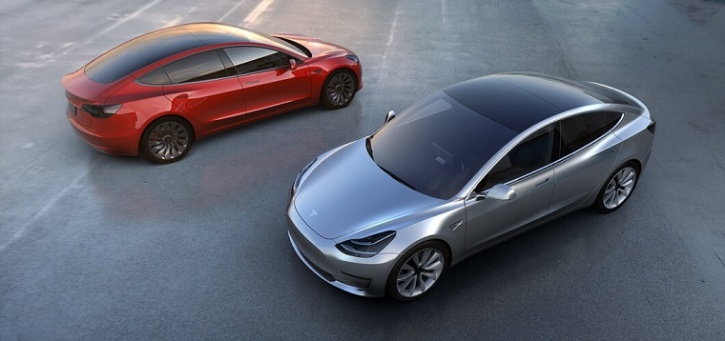 Promotional Image For The Tesla Model 3 Official Site