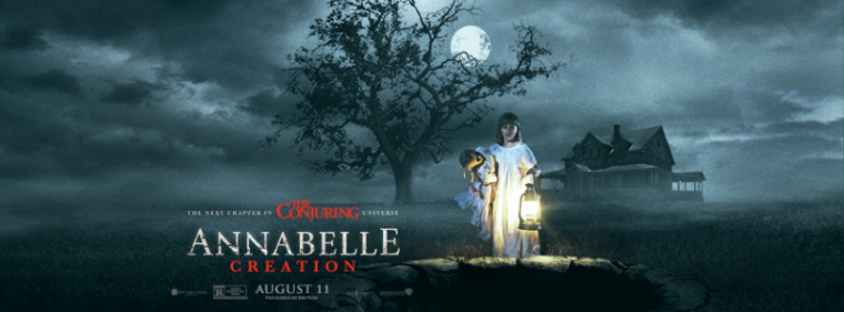 """A promotional photo for the upcoming movie """"Annabelle: Creation."""""""