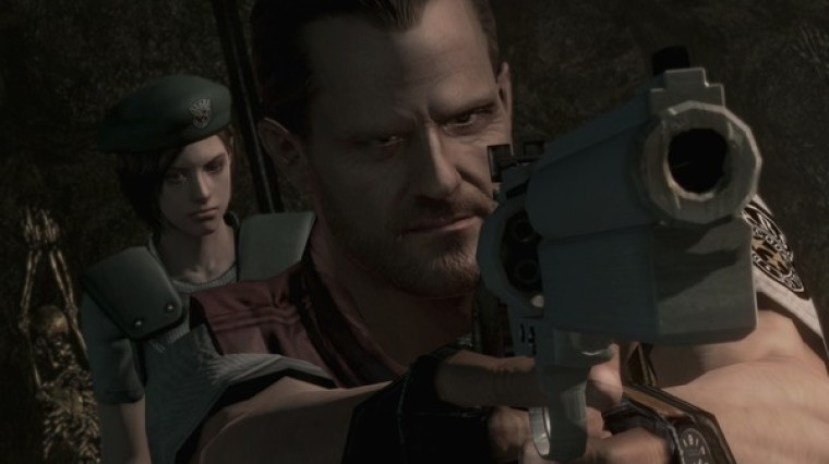 A promotional screen of the video game 'Resident Evil: Biohazard' HD Remaster.