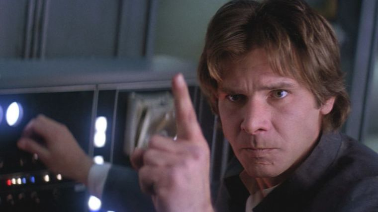 A photo of Harrison Ford as Han Solo in 'Star Wars.'