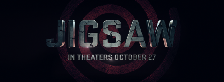 A promotional photo of the upcoming movie 'Jigsaw' of the 'Saw' film franchise.