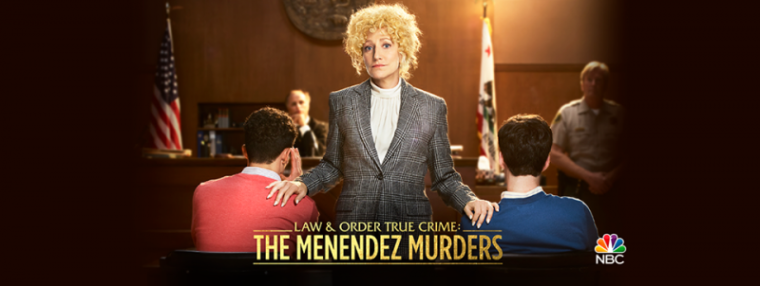 A promotional photo of NBC's TV series 'Law & Order True Crime: The Menendez Murders.'